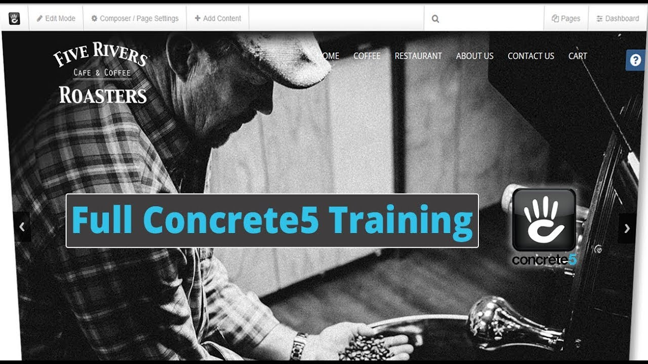 Concrete5 content management system (CMS) training video for version 5.7 & 5.8 covering how to simply add, edit and delete pages in the powerful Concrete5 CMS. A great tutorial video for beginner and intermediate users of concrete5.
