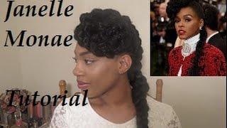 Janelle Monae Inspired Hair Tutorial