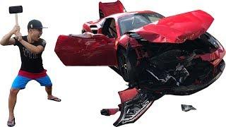 NTN - Đập Nát Siêu Xe Ferrari 488 GTB (Smashing The Ferrari 488 GTB)