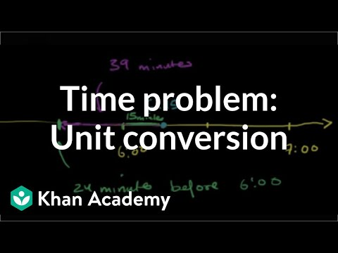 Time word problem: travel time (video)   Khan Academy