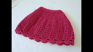 How To Crochet A Simple Shell Stitch Skirt - Any Size