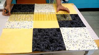 Oh so easy twisted 9 patch Quilt Block.