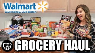 MASSIVE WALMART GROCERY HAUL | Dinner Recipe Ingredients & Snacks for Kids Lunches | PHILLIPS FamBam