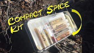 Spice kit for Bushcraft, Hiking, Backpacking, Survival