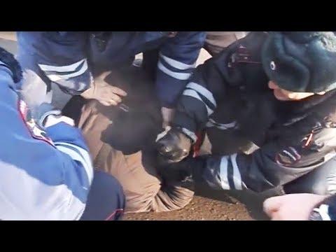 Стопанули на посту ГИБДД за самодельный прицеп-подкат из Газ24 Волга .