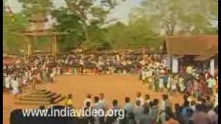 Aryankavu pooram - festival in the jungle