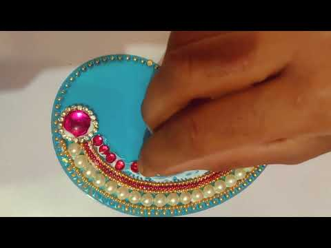 diy kundan rangoli design for festivals by art and decor