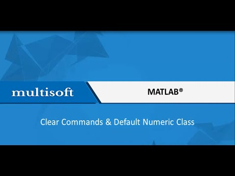 MATLAB Clear Command and Default Numeric Class Training