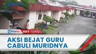 Tampang Guru SMK di Medan yang Cabuli 2 Muridnya di Hotel dan Jalan Tol, Hanya Tertunduk Lesu