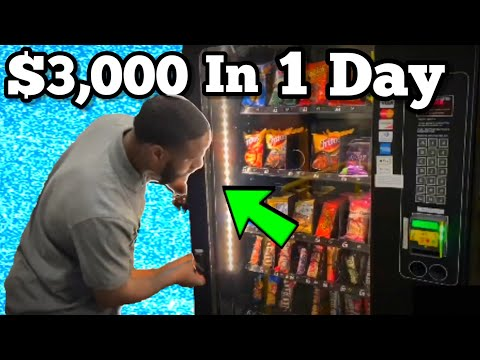 , title : 'Made $3,000 in 1 day with Vending Machine business (SELF EMPLOYED)
