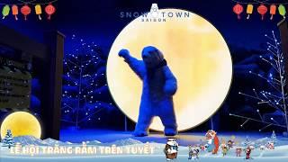 Ngắm siêu trăng tại khu vui chơi tuyết Snow Town