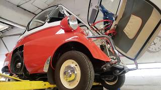 Beautiful Bubble Isetta Undercarriage Inspection. Just what makes it tick?