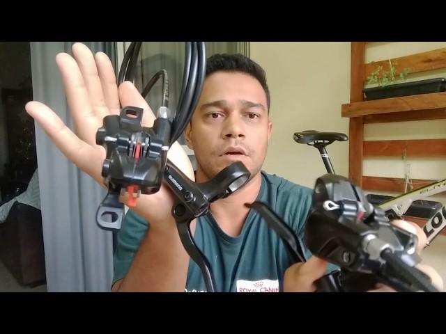 Видео Дисковый гидравлический тормоз Shimano MT200 передний black