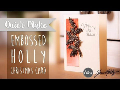 Holly Christmas Card - Sizzix