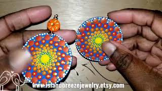 Sunshine Mandala Handmade Earrings 2020 ( Island Breeze Jewelry )