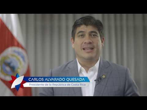 Presidente de Costa Rica felicita por 70° aniversario de fundación de República Popular China