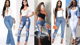 MODA 2020 OUTFITS CASUALES CON JEANS DE MODA 2020/ FASHION JEANS TENDENCIAS 2020
