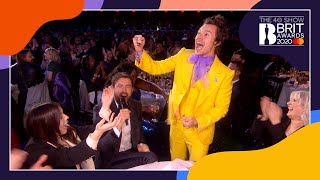 Jack Whitehall, Harry Styles and Lizzo catch-up at The BRITs 2020.   Subscribe to the BRITs channel - http://bit.ly/1aob2oV Official BRITs website - http://www.BRITs.co.uk Instagram - http://instagram.com/BRITs TikTok - https://vm.tiktok.com/9pM4XN/ Facebook - http://www.facebook.com/BRITs Twitter - http://www.twitter.com/BRITs Snapchat - http://www.snapchat.com/add/BRITs