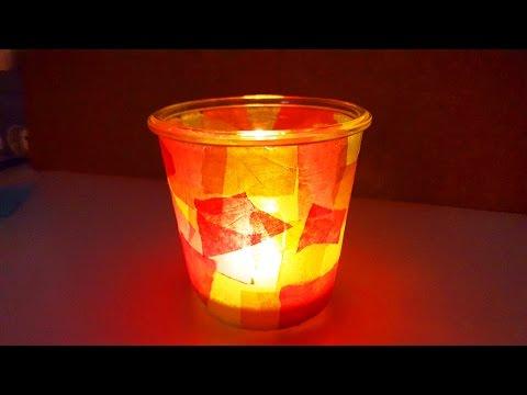 Windlicht basteln | einfache & schöne Herbst Deko selber machen | DIY Idee Kerzen | Geschenk