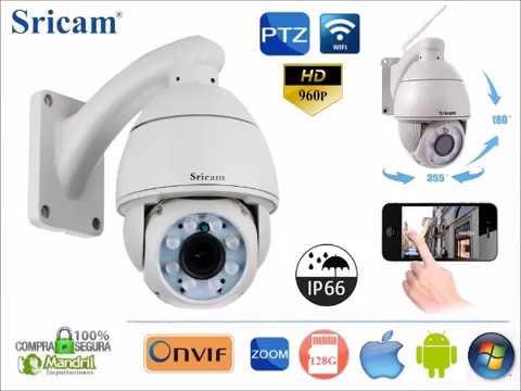 Camara IP Wifi  Domo PTZ HD SRICAM SP008 Vigilancia Exterior 5X SLot Sd 128Gb