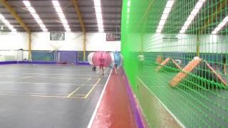 Tahnee Lee Bubble Soccer Hit - 4 large men against 1 girl