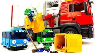 Машинки! Мультики для детей. Автобус Тайо наводит порядок