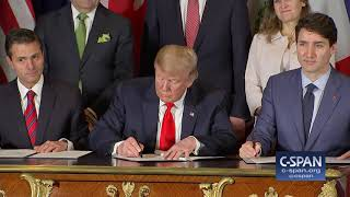 Word for Word: President Trump Signs Trade Agreement with Canada & Mexico (C-SPAN)