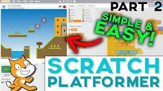 scratch tutorial platformer game get featured 2018 - updated