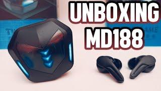 Unboxing Audífonos GAMERS MD188 ¿LOS MEJORES EN BAJA LATENCIA?