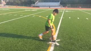 11 Year Old Kid Kicks 35 Yard Field Goals!