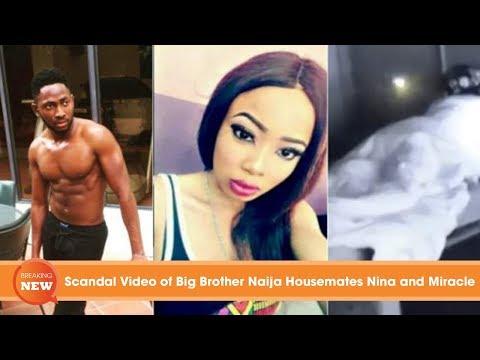 Scandal Video of Big Brother Naija Housemates Nina and Miracle