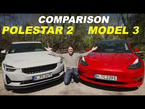 Tesla Model 3 vs Polestar 2 comparison REVIEW! Two of the best EVs fight it out!