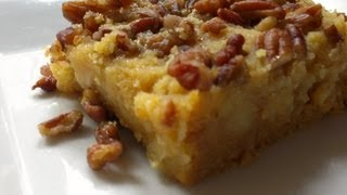 easy pecan bars with yellow cake mix