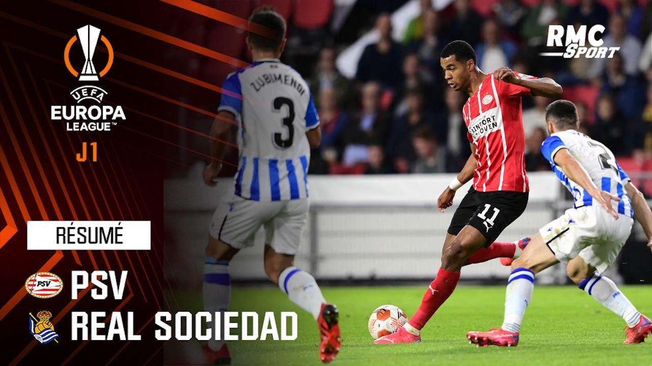 Résumé : PSV 2-2 Real Sociedad - Ligue Europa J1