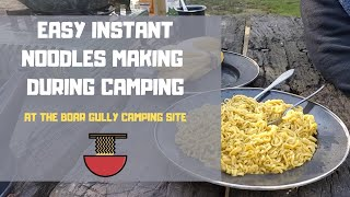 preview picture of video 'Cooking Instant Top Ramen Masala Noodles ft. during camping @ Boar Gully Campsite by Masala Counter'