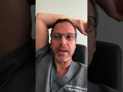 Dr Lowenstein sees patients in his Denver office of Migraine Surgery Specialty Center