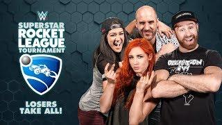 HUGGIN' UPPERCUTS (Bayley/Cesaro) vs. UP-UPBEATNIKS (Becky/Sami) — Rocket League Losers Take All