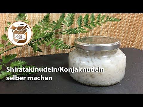 Shiratakinudeln / Konjaknudeln selber machen & einkochen