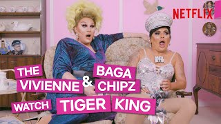 "Drag queens Baga Chipz and The Vivienne react to scenes from the Netflix series Tiger King, in this episode of ""I Like to Watch UK."" Hear what they think of Joe, Carole, Doc and the rest of the featured characters, learn their take on big cats, and clock a spot on Mr. Bean reference.  ➡️SUBSCRIBE FOR MORE: http://bit.ly/29kBByr  About Netflix Netflix is the world's leading streaming entertainment service with over 167 million paid memberships in over 190 countries enjoying TV series, documentaries and feature films across a wide variety of genres and languages. Members can watch as much as they want, anytime, anywhere, on any internet-connected screen. Members can play, pause and resume watching, all without adverts or commitments.  Find Netflix UK on: ➡️TWITTER: http://bit.ly/29lYvcs ➡️INSTAGRAM: http://bit.ly/29slD8O ➡️FACEBOOK: http://bit.ly/29mx00a  Or visit the Netflix WEBSITE: http://nflx.it/29BcWb5  Drag Queens Baga Chipz and The Vivienne React To Tiger King 