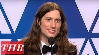 Oscar Winner Ludwig Göransson Full Press Room Speech | THR