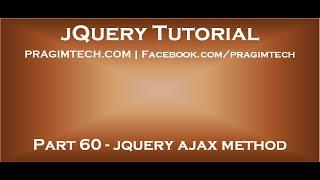 jquery ajax method