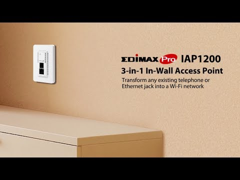 2 x 2 AC1200 Dual-Band In-Wall PoE Access Point