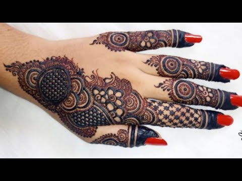 easy arabic mehndi designs for hands by sadia