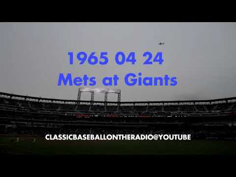1965 04 24 New York Mets at SF Giants
