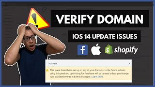 VERIFY SHOPIFY DOMAIN ON FACEBOOK BUSINESS MANAGER   IOS 14 ISSUES