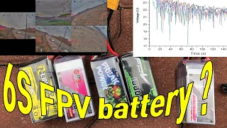 Comparison of 6S lipo batteries for FPV Freestyle [Tattu, GNB, FP, Ovonic] (graphs, tables, and DVR)