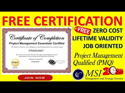 FREE Project Management Certification to do in 2021 by MSI, USA ...