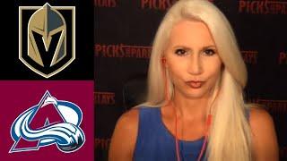 Las Vegas Golden Knights Vs Colorado Avalanche - Saturday 8/8/20 - NHL Picks & Predictions