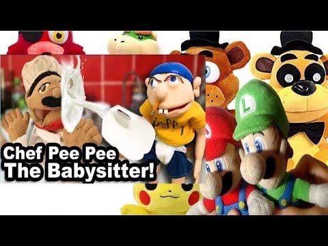 SML Movie: Chef Pee Pee The Babysitter! Mario & Luigi Reaction(Freddy,Foxy,GFreddy,Pikachu,BowserJr)