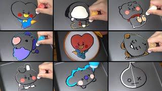 BTS (방탄소년단) Character BT21 Baby Shooky, Mang, Koya, Van, Tata, Chimmy, RJ, Cooky edible Pancake art